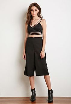 Shadow Stripe Cropped Cami | Forever 21 - 2000184564