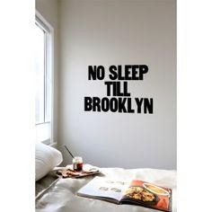 Blik Wall Decal - No Sleep Till Brooklyn