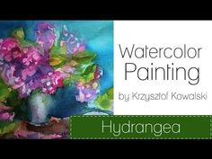 ▶ Watercolor painting - Hydrangea - YouTube