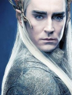 Lee Pace in sexy elf mode from The Hobbit: Desolation of Smaug.....I concur>.