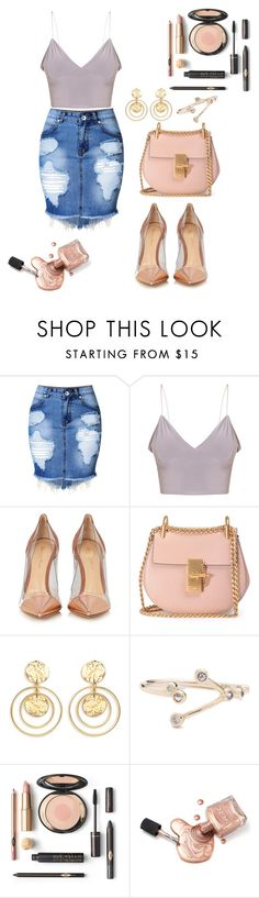 """""""Untitled #292"""" by anjola112 on Polyvore featuring Gianvito Rossi, Chloé and Kenneth Jay Lane"""