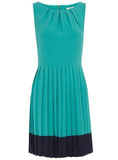 Pleated two tone dress | Dorothy Perkins