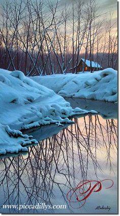 Winter Reflections 40 x 20 By Alexei Butirskiy
