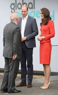 Kate Middleton Photos Photos - Prince William, Duke of Cambridge and Catherine, Duchess of Cambridge depart after attending the official opening of The Global Academy in support of Heads Together at The Global Academy on April 20, 2017 in Hayes, England. The Global Academy is a state school founded and operated by Global, The Media & Entertainment Group and will educate students for careers in broadcast and digital media. - The Duke & Duchess Of Cambridge And Prince Harry Officially Ope...