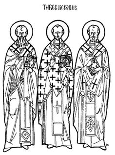 Line Drawing Resources - Teacher Resources - Department of Christian Education - Orthodox Church in America Coloring Books, Coloring Pages, Church Icon, Greek Language, Church History, School Lessons, Painting For Kids, Kids Education, Teacher Resources