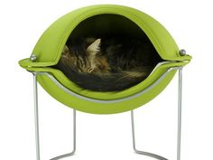 Designed for the modern cat, this cave-shaped pod from Hepper lets cats look out on their world from a safe enclosed perch. The soft interior is cozy and inviting.