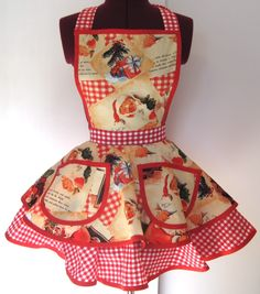 Vintage Christmas Apron Tutorial and Other Apron Tutorials