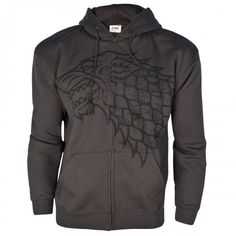 Game of Thrones Distressed Stark Sigil Full Zip Hoodie
