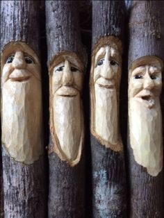 wood spirits carved by chickanwhittle