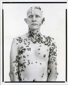 Ronald Fischer, Beekeeper by Richard Avedon, 1981. To get the bees to land on Fischer, photographer Richard Avedon enlisted the help of UC Davis entomologist (and professional bee wrangler) Dr. Nor...