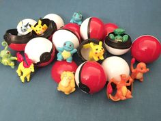 This Posting is for :  40 Pcs Pokemon Go Balls Pokeballs and Mini Pokemon Figures Cake Topper Random Figures ~ Super Cute for Birthday Party, Party Favor, Loot bags, Cupcake Cake Toppers. Your kids will love these Party Favor Pokemon Go Pokeballs with Figures inside Cake Toppers. Decorate it on the Cake/ Cupcakes and give to the kids to play afterwards! Super Cute to collect /catch em all!   SET CONSIST OF :  20 Pcs Pokeballs + 20 Pcs Random Pokemon Mini Figures  TOTAL : 40 Pcs Won...