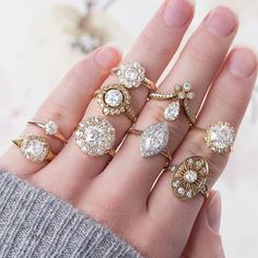 Vintage and vintage-inspired lovers, this is for you! Rings by @trumpetandhorn ✨See their rings on YOUR hand in the @beaumade iOS app #AboutToSayYes . . . #beaumade #engaged #engagementring #justsaidyes #shesaidyes #bridetobe #futuremrs #ringselfie #ringfie #ringsofinstagram #ringblings #ringbling #bling #blingbling #putaringonit #feyonce #proposal #wedding #vintagebride #vintageinspired #vintagewedding #vintageengagementring #ido