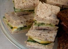 Cucumber, Hummus, and Lemon Tea Sandwiches Recipe