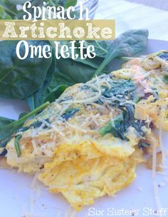 spinach artichoke omelette