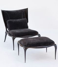 Ralph Pucci Chair and ottoman