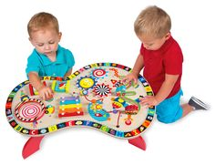 Amazon.com: ALEX Toys - ALEX Junior, Sound and Play Busy Table Baby Activity Center with (8) Activities, 1970: Baby