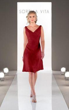 8575 Cranberry Bridesmaid Dress by Sorella Vita