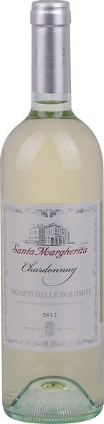 In stock - 9,26€ 2012 Santa Margherita Chardonnnay Vigneti delle Dolomiti, white dry , Italy - 85pt Wine of golden colour with light yellow rim. Aroma of the wine is intense, fruity, buttery, with dominance of tropical fruit such as banana, citrus and a frop of honey in the end. In taste is robust with nice structure. Again is presented buttery-fruity character. Aftertaste is medium long.