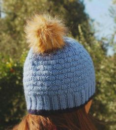 Items similar to Hand knitted hat with pom pom on Etsy Pom Pom Hat, Hand Knitting, Knitted Hats, Winter Hats, Trending Outfits, Unique Jewelry, Handmade Gifts, Awesome, Etsy