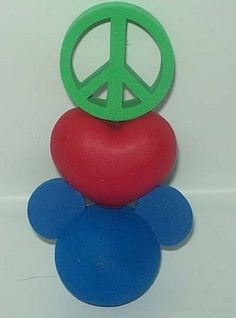 Disney Antenna Topper - Peace, Love, Mickey