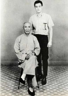 Young Bruce Lee and his mentor Grandmaster Ip Man