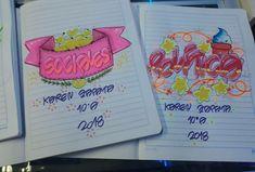 My Notebook, Banner, Bullet Journal, Notes, Fancy, Lettering, Feelings, Drawings, School