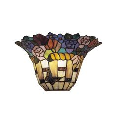 Dale Tiffany TW100887 Floral Wall Sconce, Antique Brass