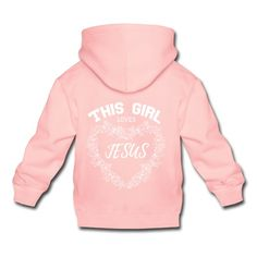THIS GIRL LOVES JESUS - BIG - Kinder Premium Hoodie