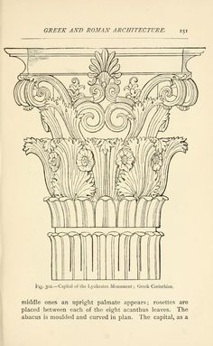 Historic ornament: treatise on decorative art . Architecture Antique, Architecture Concept Drawings, Classic Architecture, Historical Architecture, Architecture Details, Architecture Design, Stone Decoration, Art Sculpture, Greek Art