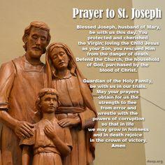 #StJoseph, Husband of Mary, pray for us!
