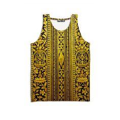 ☮♡ Guilded Era Tank ✞☆    #1991inc #gold #tank #top