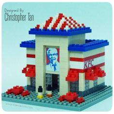 nanoblock Vintage KFC restaurant =)