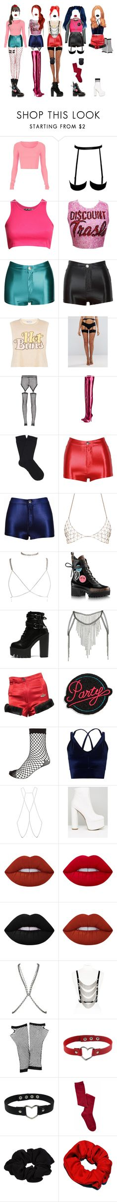 """""""- debut concept : MY LOVE"""" by xxeucliffexx ❤ liked on Polyvore featuring Pilot, Di$count Universe, Wildfox, Ann Summers, Bohemian Society, Christian Louboutin, Falke, Luv Aj, Topshop and Vivienne Westwood"""