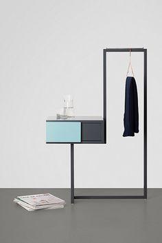 'Teca Bedroom Cabinet' by Alfredo Häberli. Steel Furniture, Space Furniture, Home Furniture, Furniture Design, Minimalist Bed, Minimalist Furniture, Furniture Inspiration, Interior Inspiration, Armoire Design