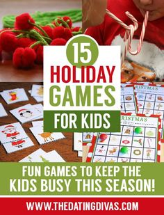 These holiday games for kids are great.