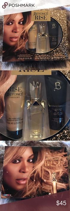 Beyoncé rise body lotion perfume and shower gel🎀 All new never used comment if you have any questions 😊 beyonce Makeup
