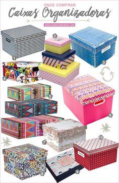 Onde comprar: caixas organizadoras decoradas