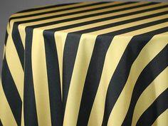 Hudson Stripe Black On Gold Print. Custom Tablecloths Are What We Do At  Custom Vinyl