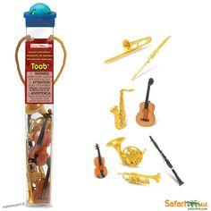 Instrumenty Muzyczne - Figurki w Tubie
