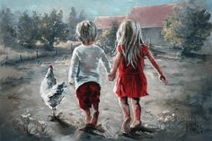 Original Fine Art Painting by Maria Magdalena Oosthuizen. Medium: Acrylic on Canvas. Stretched, and Blocked, Not Framed. Pretty Art, Cute Art, Stella Art, Drawings Pinterest, Art Pictures, Photos, Coastal Wall Art, Painting People, Art And Illustration