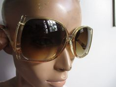 Vintage 70s 80s SUNGLASSES Womens Mod Hipster Hippie Boho Brown Frames Opti-Ray #OptiRay #retro