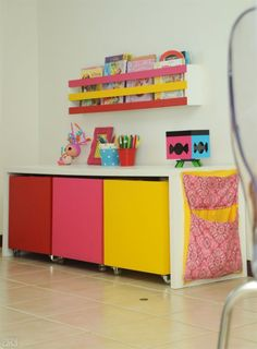 ways to show off your wall art than simply hanging a picture on a blank wall. Personalise plain walls with these fun and fabulous ideas for children's rooms. Kids Room Furniture, Space Saving Furniture, Girl Room, Girls Bedroom, Princess Bedrooms, Yellow Nursery, Kids Decor, Home Decor, Kid Beds