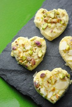 burfi - another Indian sweet we could do - all that pistachio or orange zest looks great!