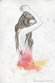 Mujer Espalda Pinturas De Lapiz Wwwimagenesmycom