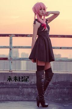 Gasai Yuno cosplay(Mirai Nikki)
