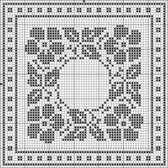 Filet crochet charts, Filet crochet