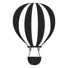 Black and white hot air balloon silhouette - Transparent PNG & SVG vector Cloud Template, Balloon Template, Balloon Logo, Balloon Tattoo, Air Ballon, Hot Air Balloon, Stencils, Bathroom Towel Decor, Silhouette Png