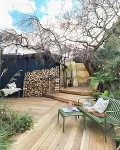 Garden transformation with hardwood decking. Outdoor Life, Outdoor Decor, Hardwood Decking, Garden Inspiration, Garden Ideas, Winter Garden, First Home, Garden Design, This Is Us