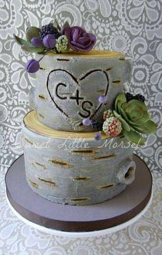 Woodland Wedding Cake Cake by SweetLittleMorsels