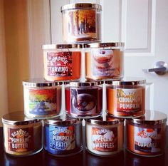 Bath and body works candles, I wish we had these in the UK! Please someone open a shop that sells these